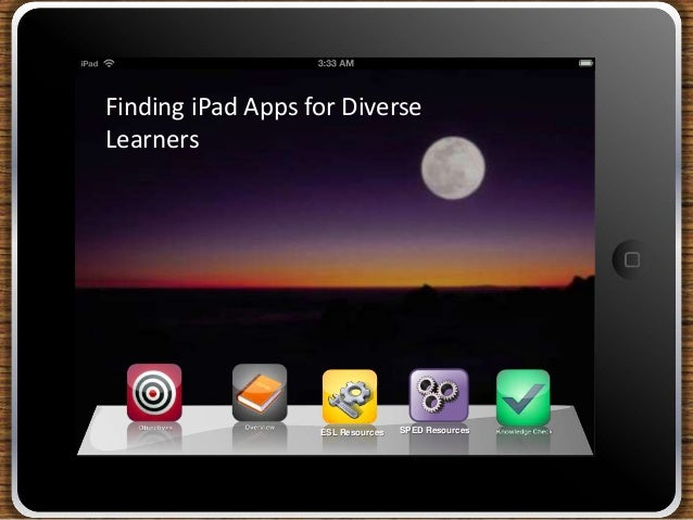 ESL ResourcesFinding iPad Apps for DiverseLearnersSPED Resources