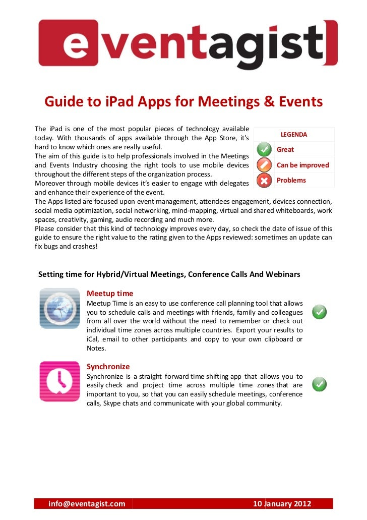 Guide to iPad Apps for Meetings & Events              ad AThe iPad is one of the most pop  popular pieces of technology av...