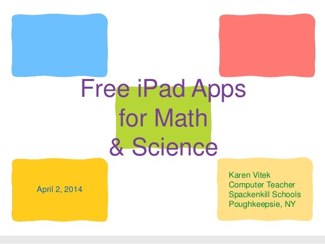 Free iPad Apps for Math & Science
