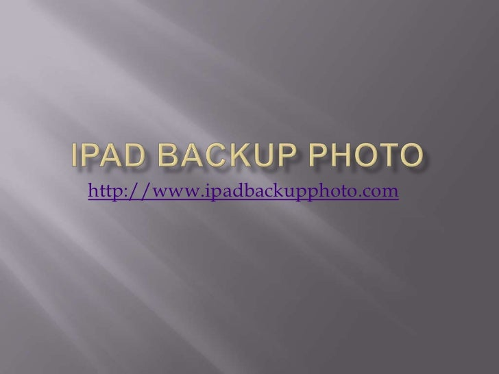 Recover your iPad data in a simple way