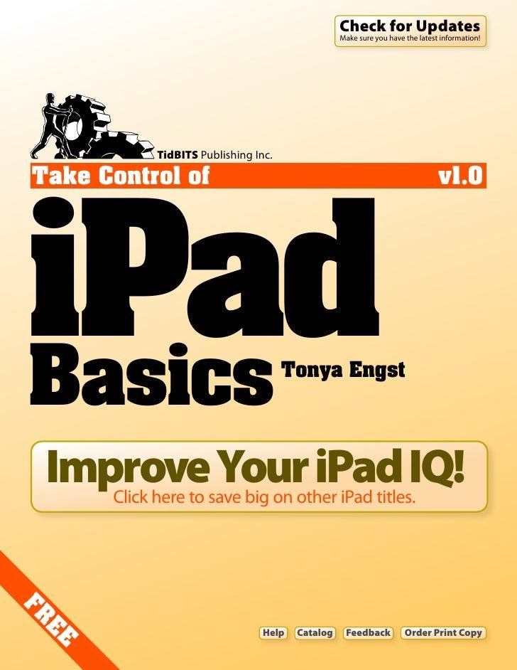 Ipad basics 1.0