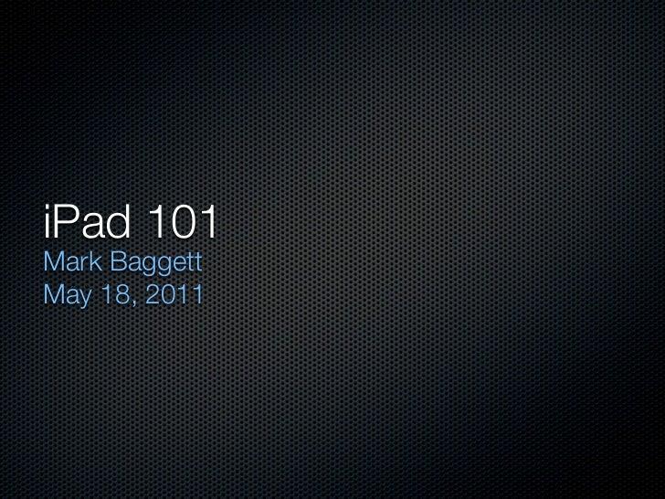 IPAD 101: UTK LIBRARIES