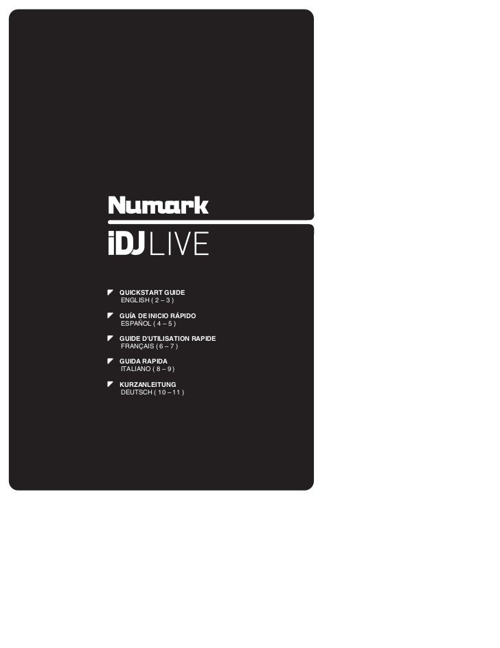 iDJ Live iPod and iPad DJ Quickstart Guide