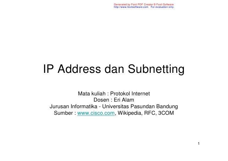 Ip Address Dan Subnetting