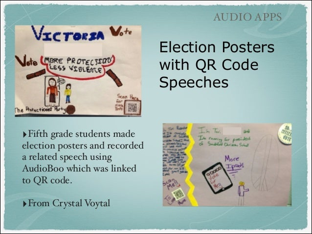 audio apps election posters with qr code speeches fifth grade