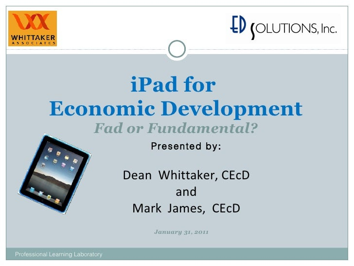 I pad for economic development pll webinar-1-31-11