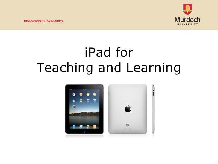 Ipad for teaching & learning
