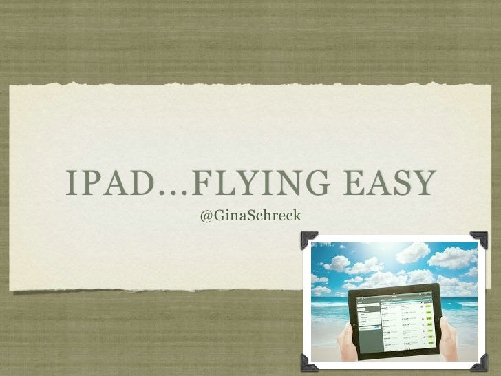 Let's Fly: iPad Travel Apps