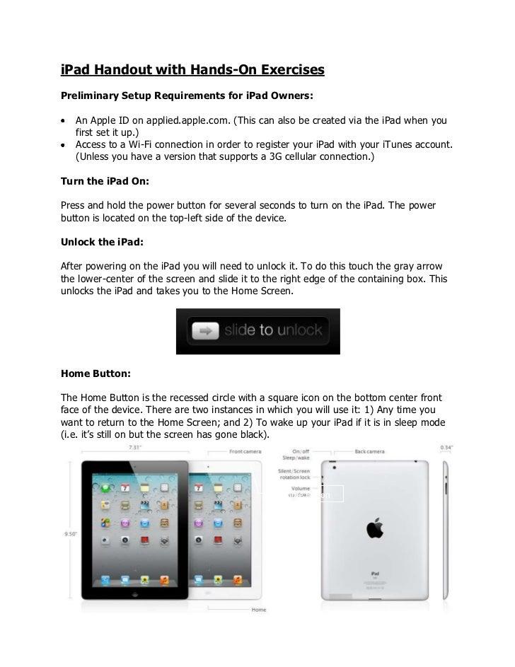 iPad handout
