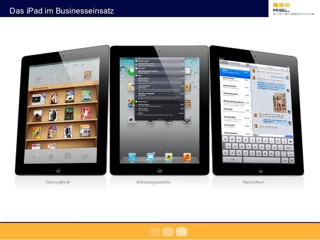Das iPad im Businesseinsatz