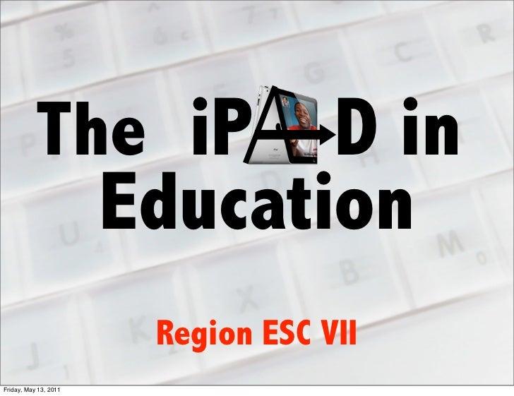 Region ESC 7 iPad in Education