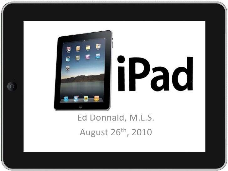 iPad in Higher Education