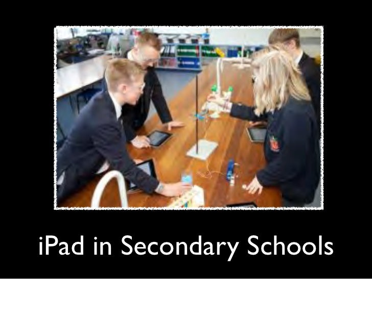 iPad in Secondary Educational settings