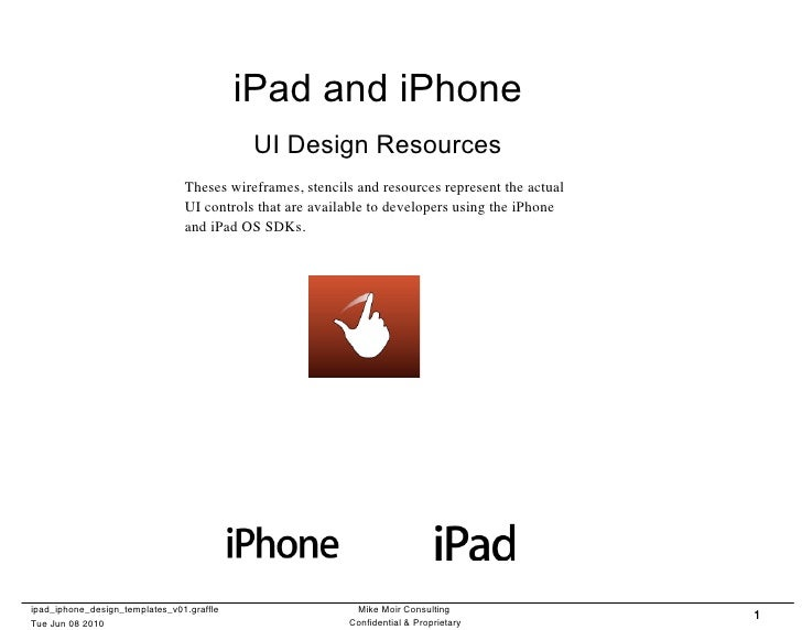 iPad and iPhone                                            UI Design Resources                                Theses wiref...
