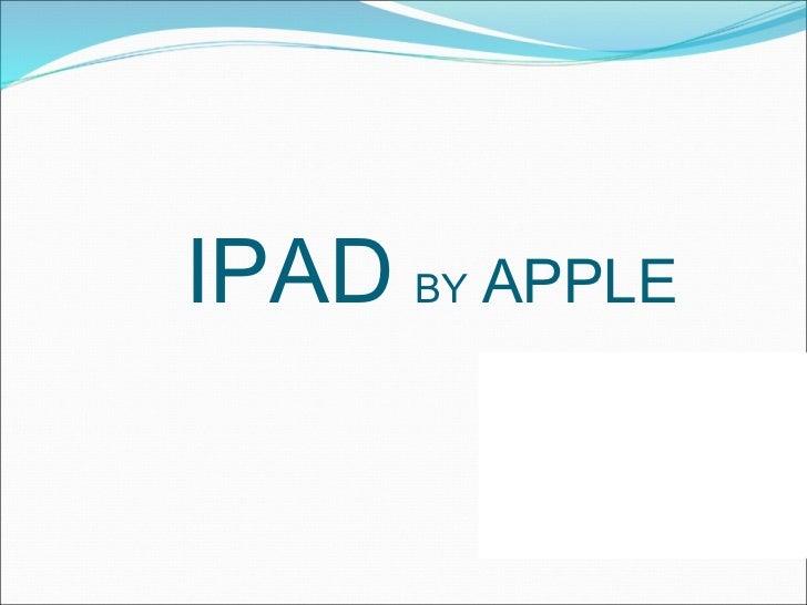 Ipad - Info