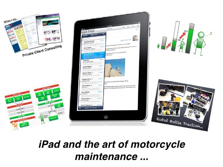 iPad and the art of motorcycle        maintenance ...