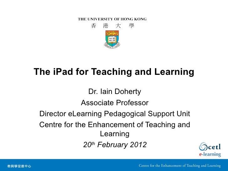 The iPad in Medicine