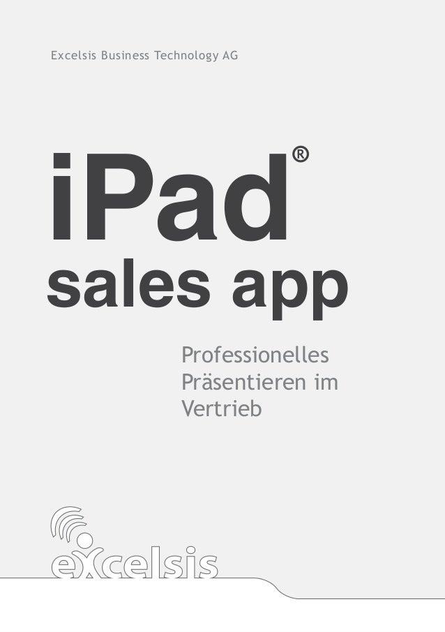 iPad sales app - Professionelles Präsentieren im Vertrieb