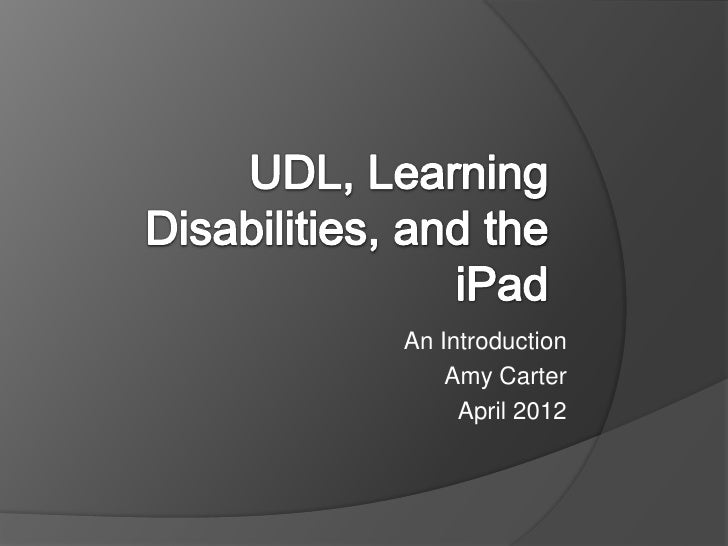 iPads and UDL