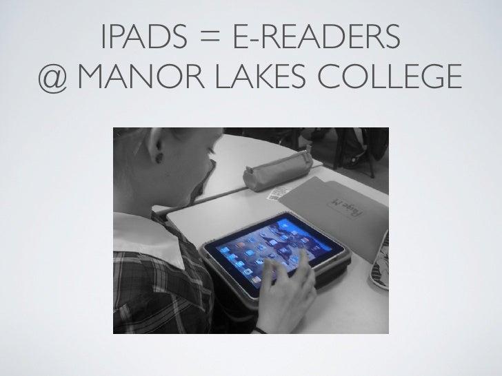 I pads & ebooks @ mlc