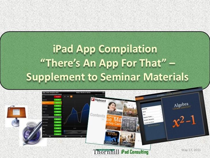 Ipad Supplement - App Compilation