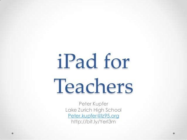I pad's for teachers 3