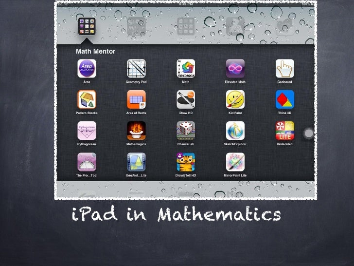 iPad in Mathematics