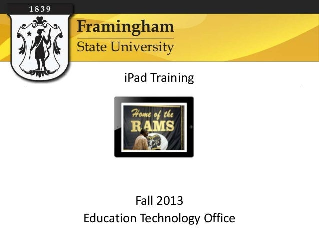 iPad Training Fall 2013