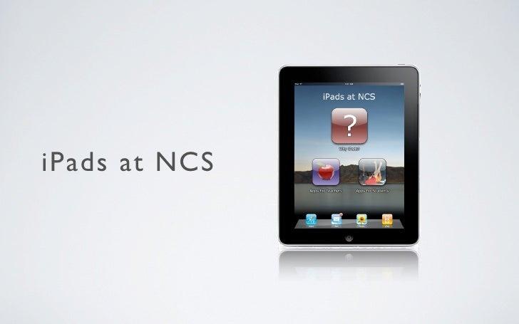 iPads at NCS