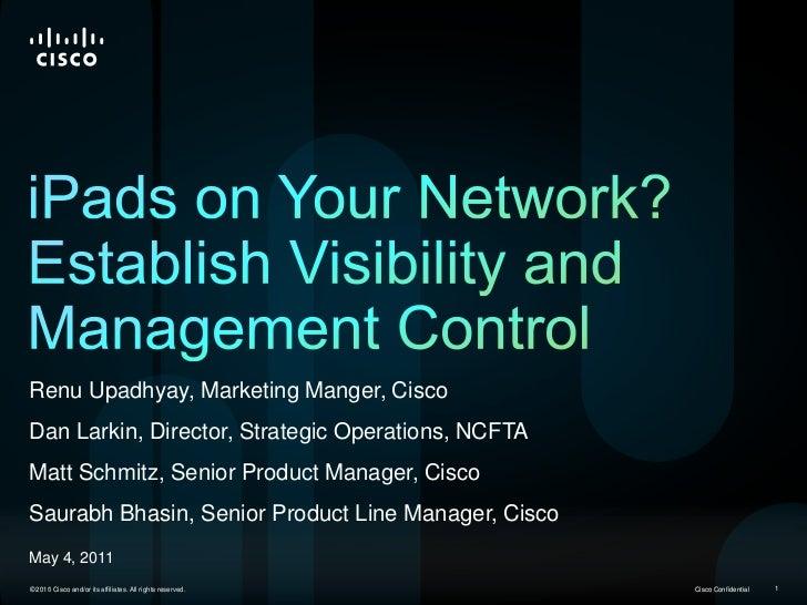 RenuUpadhyay, Marketing Manger, Cisco<br />Dan Larkin, Director, Strategic Operations, NCFTA<br />Matt Schmitz, Senior Pro...