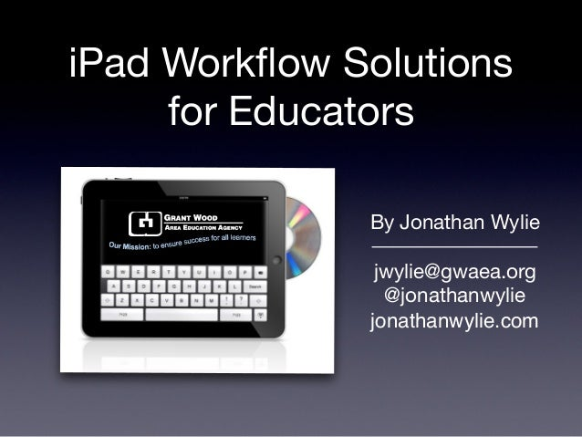 iPad Workflow Solutions for Educators