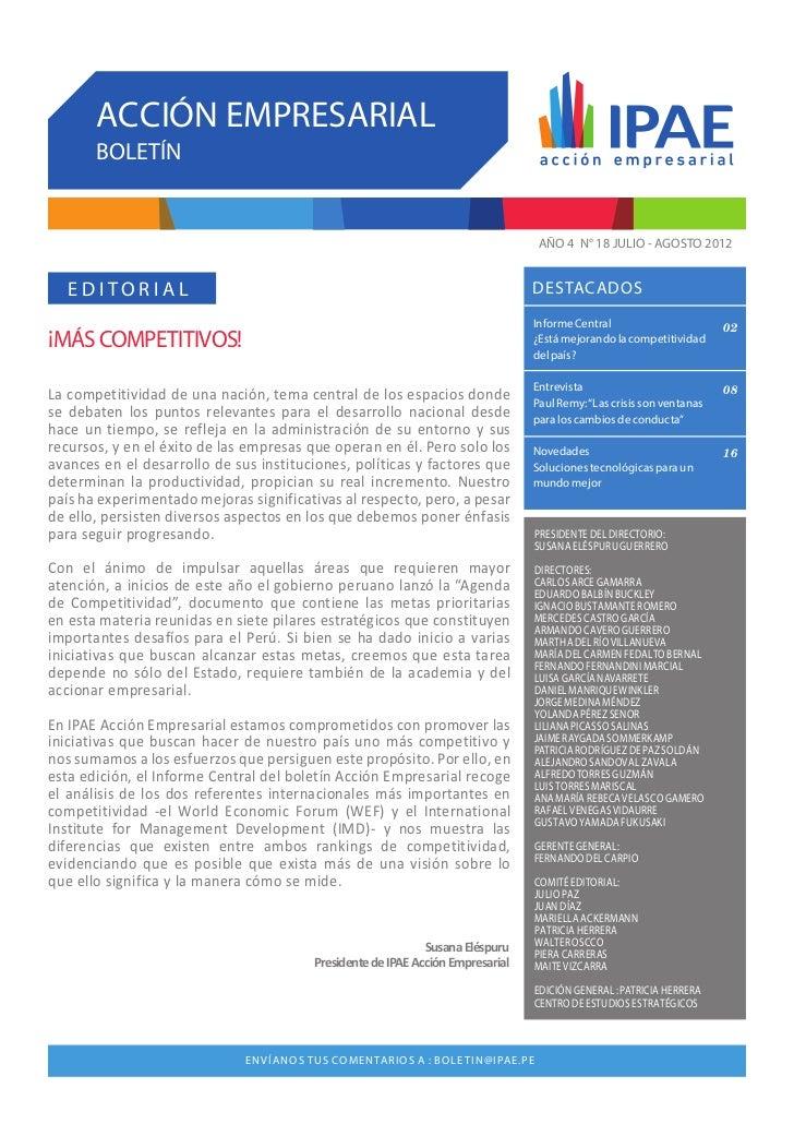 Boletin 18 - IPAE Acción Empresarial