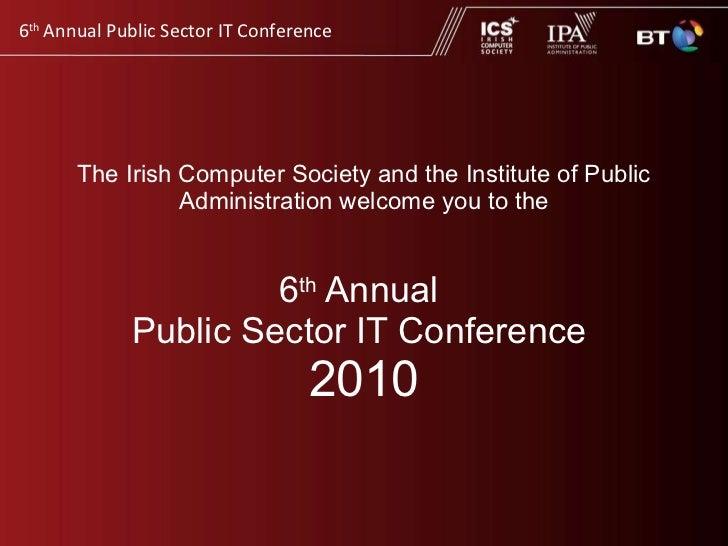 IPA (Inst Public Admin) Annual General Meeting 2010
