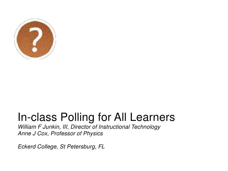 IPAL — In-class Polling for All Learners