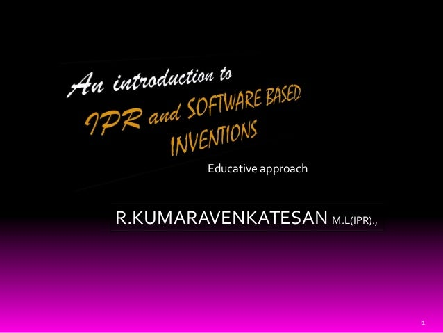 IPR AND SOFTWARE PROTECTION