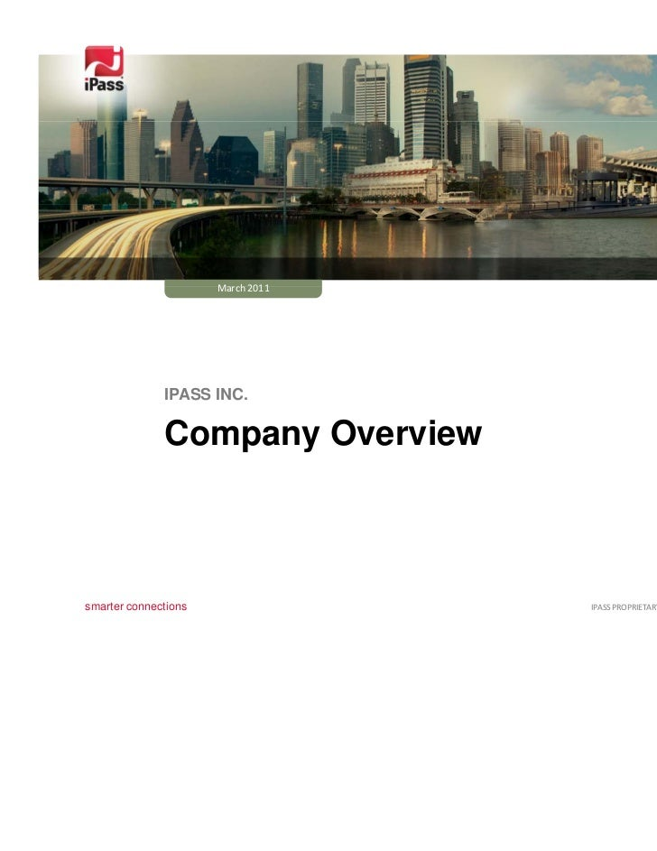 iPass corporate presentaion