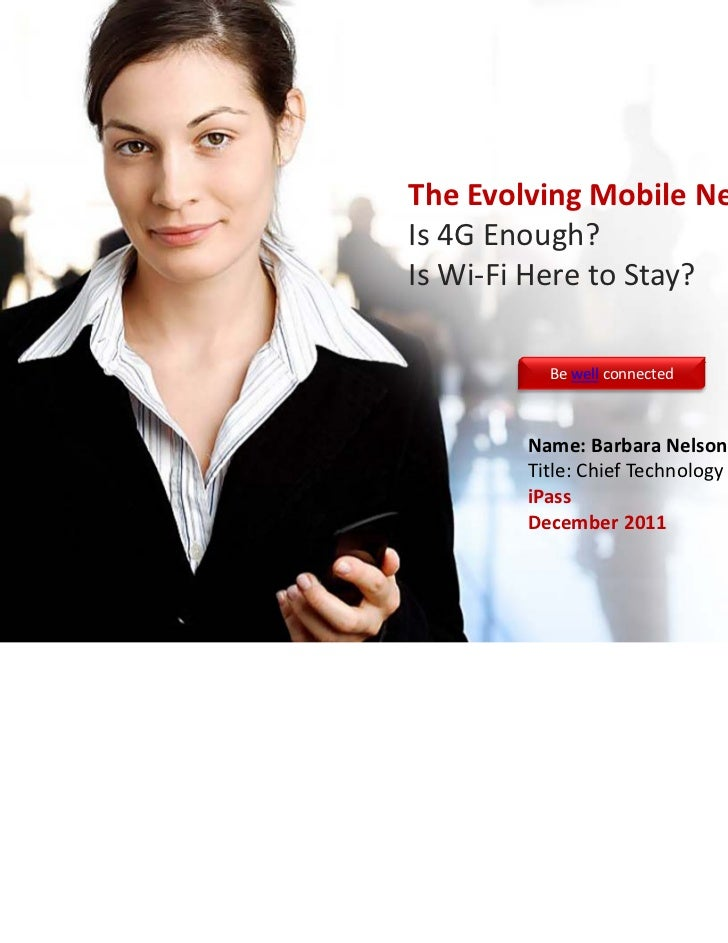Evolving Mobile Network: iPass at RCR Wireless 12-6-2011