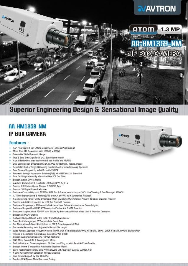 Avtron Ip box camera aa hm1359-nm