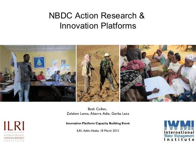 NBDC Action Research & Innovation Platforms  Beth Cullen, Zelalem Lema, Aberra Adie, Gerba Leta Innovation Platform Capaci...