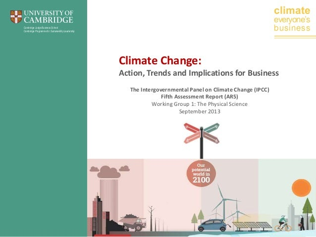 climate  everyone's business  Cambridge Judge Business School Cambridge Programme for Sustainability Leadership  Climate C...