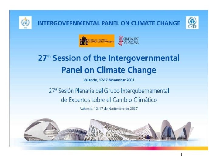 IPCC:Presentación Dr. Pachauri en conferencia de prensa edl IPCC en Valencia (2007)