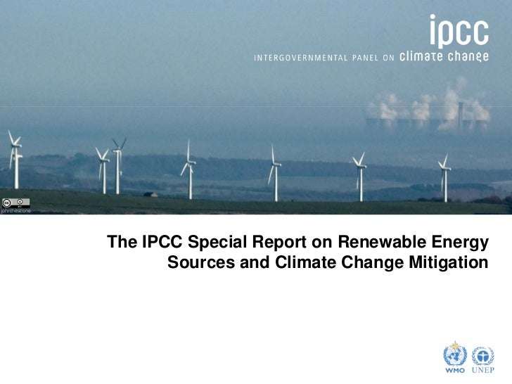 IPCC special report on renewable energy sources