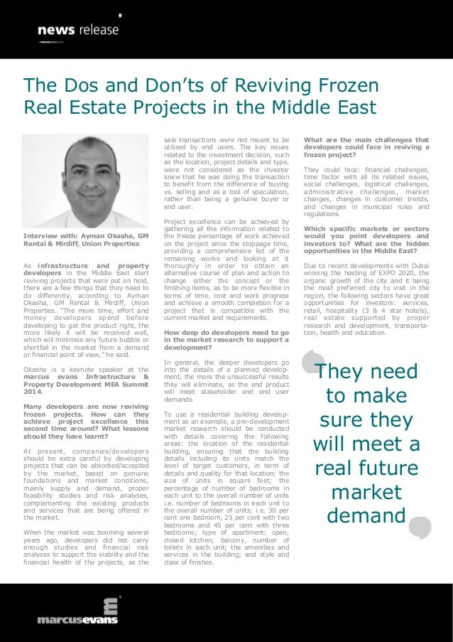 Interview with: Ayman Okasha, GM Rental & Mirdiff, Union Properties As infrastructure and property developers in the Middl...