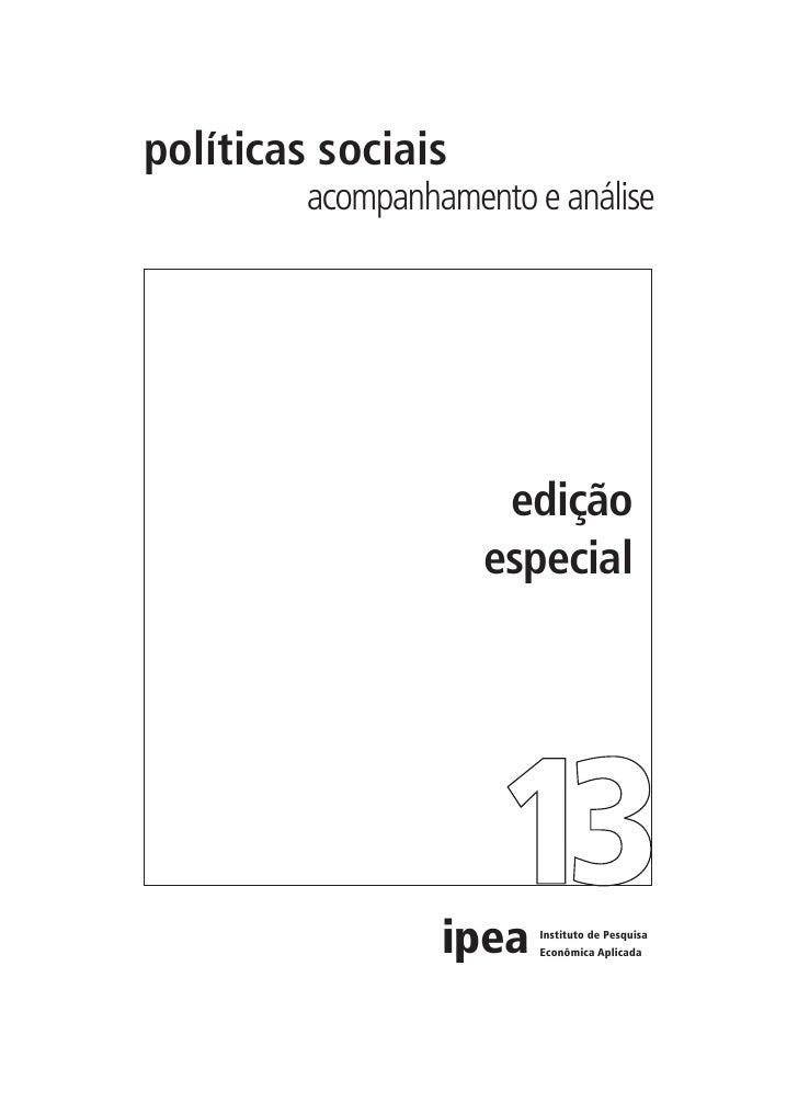 políticas sociais          acompanhamento e análise                           edição                      especial        ...