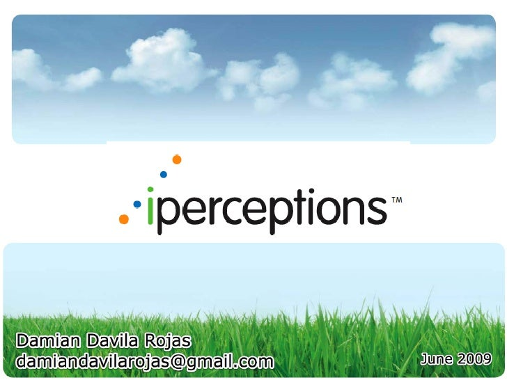 iPerceptions - Internet Business Model Analysis