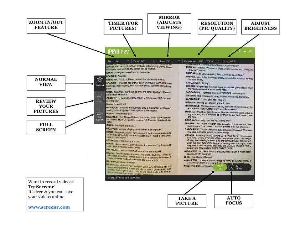 "Ipevo Document Camera ""Cheat Sheet"""