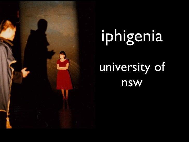 iphigenia university of     nsw