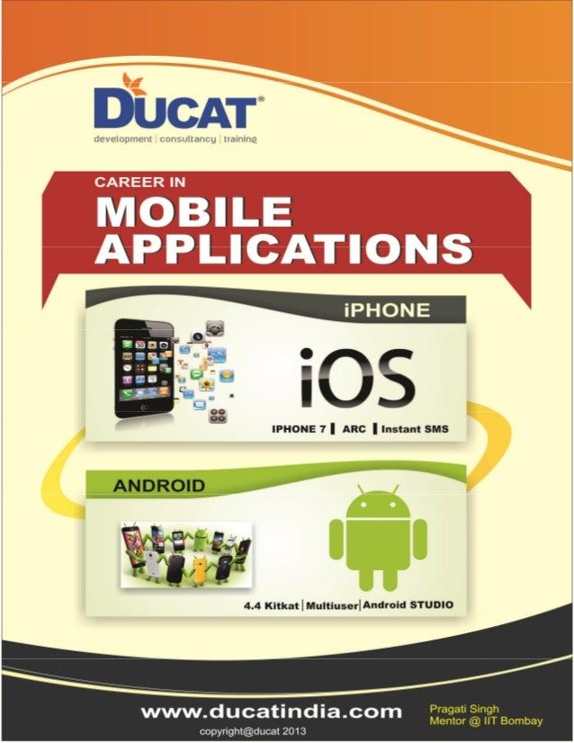 I phone first app ducat