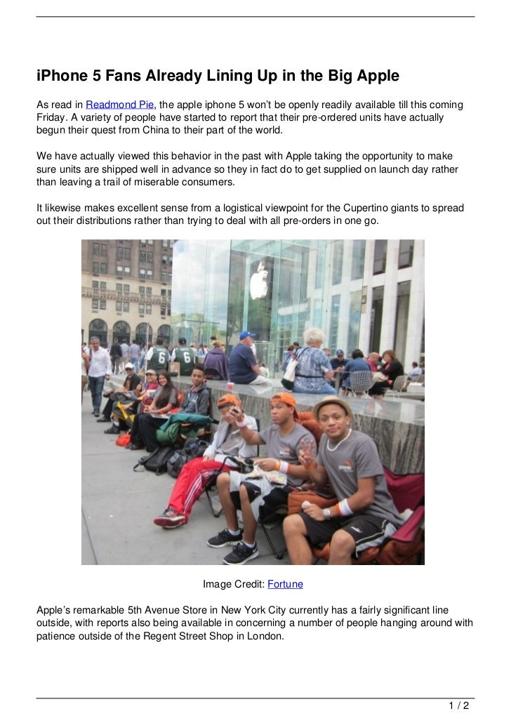 iPhone 5 Fans Already Lining Up in the Big Apple