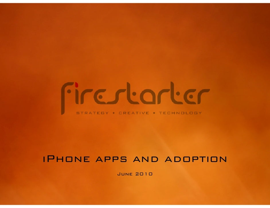 iPhone apps and adoption          June 2010